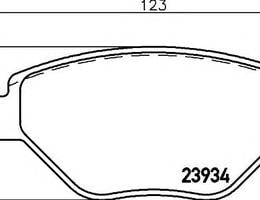 ON FREN BALATASI MEGANE II 1,4 16V SEDAN (1102-)-SCENIC II 1,4 (0603-)