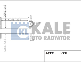 TURBO RADYATÖRU (INTERCOOLER) KNG 1.5 DCI 08=> (385x143x64) (ALPLBRZ)