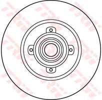 ARKA FREN (AYNA) DISKI P308 SW - P308 COUPE - C4(B7) (TEK TEKER ICIN) (DIAM:249 - EP 9) (HAVA SOGUTMASIZ)