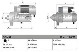 MARS MOTORU 12V 9 DIS 1 KW AURIS 1. 4VVTI 07>AVENSIS 1. 6VVTI - 1. 8VVTI(00 - 03) - COROLLA 1. 4 - 1. 6 - VVT(00 - 07