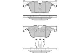 FREN BALATA ARKA 11> 1S - F20 - F21 - 3S - F30 - F31 - F34