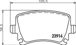FREN BALATA - ARKA FDB1636 GDB1622 - CADDY - PASSAT - GOLF - JETTA - A3 - A4 - A6 - LEON BM - Model Yılı: 04 -