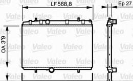 RADYATÖR C - ELYSEE - C3 - C4 - C5 I - P207 - P208 - P301 - P307 - P308 - P407 - P3008 - P5008 - RCZ 09>(MT)