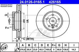 ON FREN DISKI 15 INCH ASTRA J CRUZE10> AVEO T300