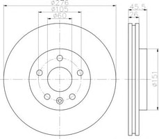 DİSK AYNA : ÖN TAKIM 15 İNCH 276 MM - ASTRA J CRUZE AVEO T300 A13DTE A16XER A14NET - Model Yılı: 10 -